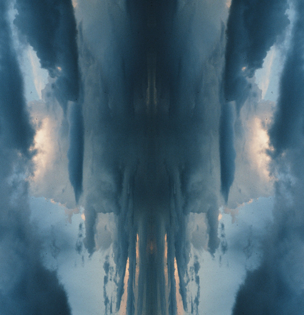 Bisymetrical abstract image of sky by Stephen Kaltenbach
